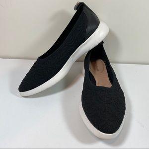 Taryn Rose Daisy Athleisure Black slip on sneakers